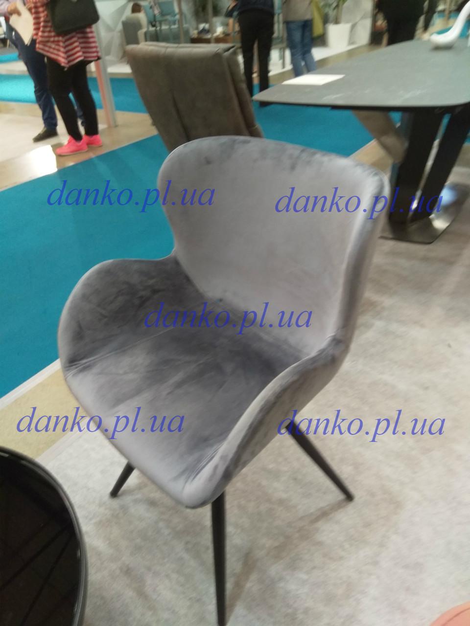 Обеденное кресло М-50 пепельный вельвет от Vetro Mebel