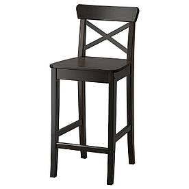 IKEA INGOLF Барний стілець зі спинкою, бронза (402.485.13)