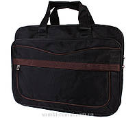 Небольшая сумка для ноутбука с коричневыми вставками