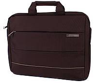 Надежная сумка для большего ноутбука N30807 Коричневая