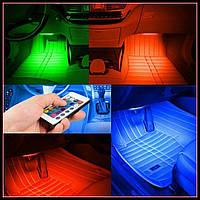 Цветная подсветка для авто водонепроницаемая VGT RGB 8 colors, фото 1
