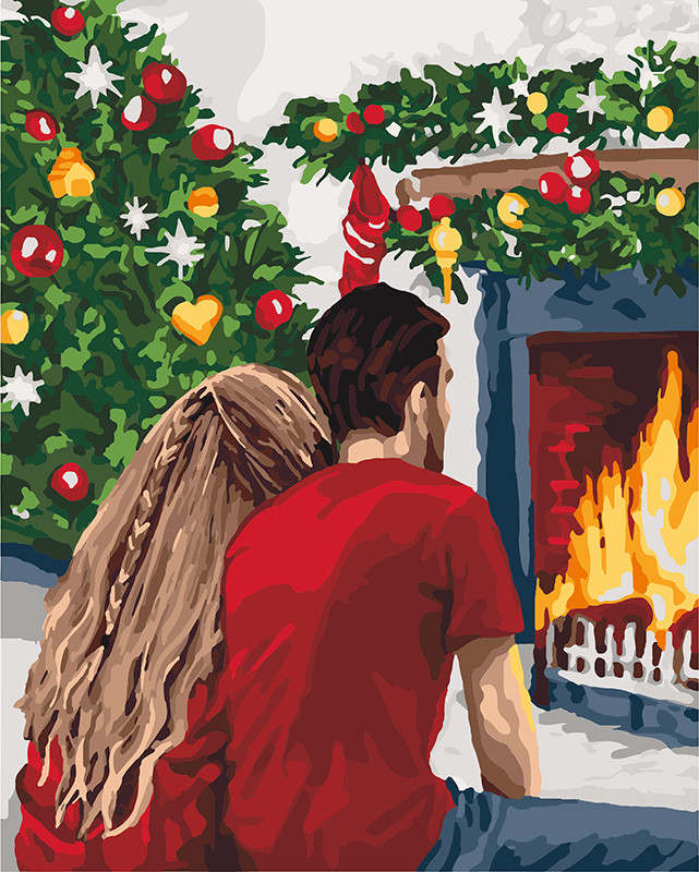 Картина по номерам Идейка Рождественская романтика (KH4640) 40 х 50 см