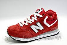Зимние женские кроссовки в стиле New Balance 574, Red\White, фото 2