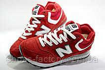 Зимние женские кроссовки в стиле New Balance 574, Red\White, фото 3