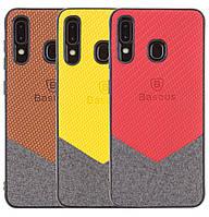 Чехол-накладка TPU Baseus Сolor Textile для Samsung Galaxy A30 (2019) SM-A305F, фото 1