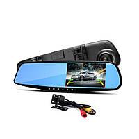 DVR L 9000 зеркало регистратор с двумя камерами