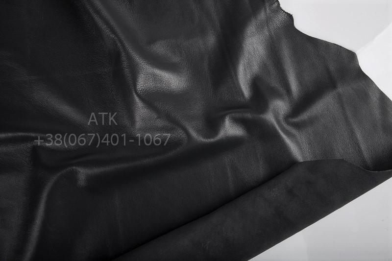 Кожа натуральная для одежды черная
