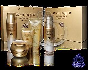 Набор  Snail Liquid Skin Care Set с концентрированным экстрактом улитки МЯТАЯ УПАКОВКА