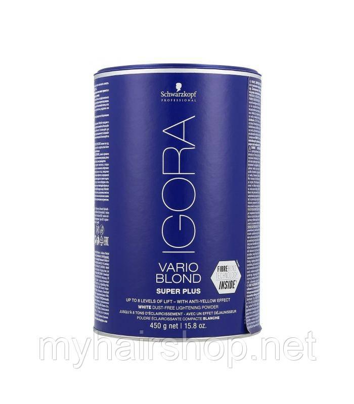 Беспылевой осветляющий порошок SCHWARZKOPF Igora Vario Blond Super Plus 450 г