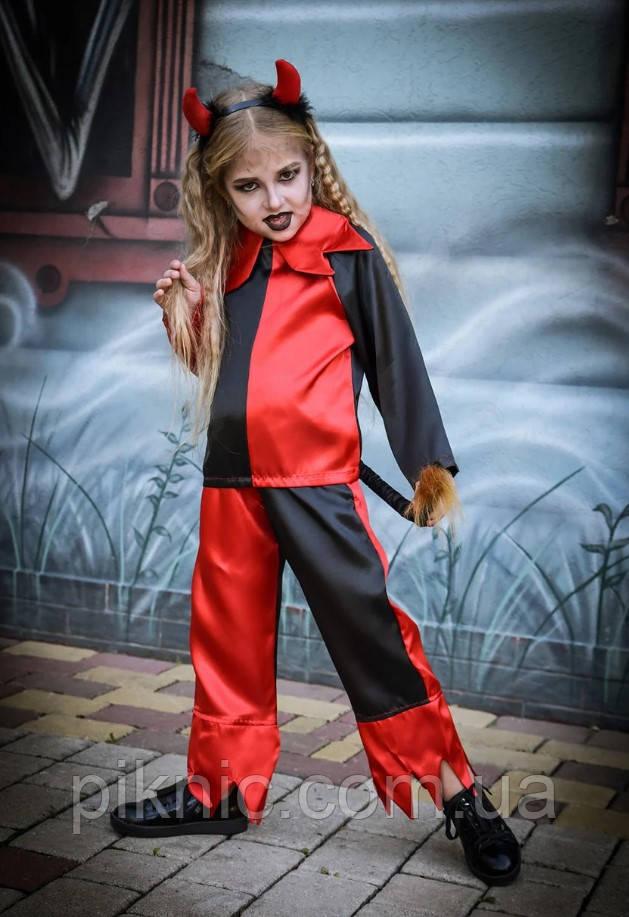 Костюм Чортик 7,8 років Дитячий карнавальний костюм Чортеня для дітей 344