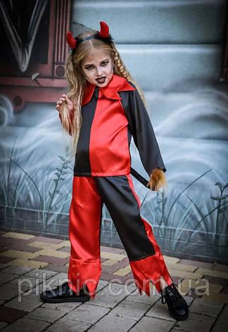 Костюм Чортик 7,8 років Дитячий карнавальний костюм Чортеня для дітей 344, фото 2