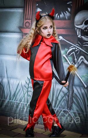 Костюм Чертик 7,8 лет Детский новогодний карнавальный костюм Чертенок для детей 344, фото 2