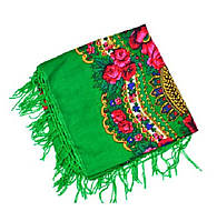 Женский платок украинский зеленый