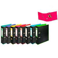 Папка регистратор А4 7см Buromax Style двухцветный черный BM.3005