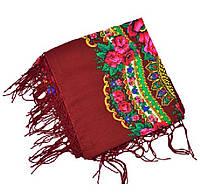 Женский платок тонкий в украинском стиле