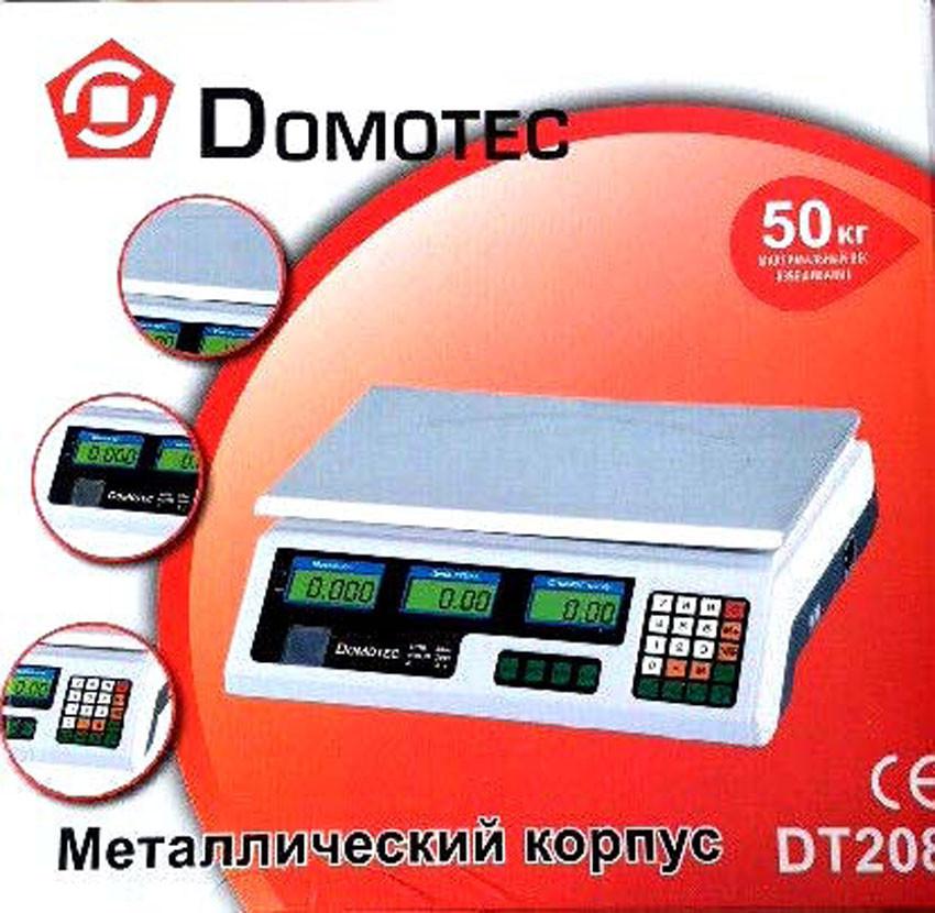 Весы торговые Domotec DT-50 (батарея 6в) (S05799)