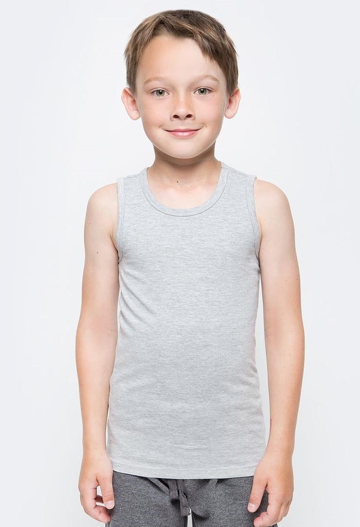 Детская майка хлопок 100% EZGI Турция размер 42 (6-8 лет) серая