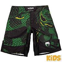 Детские шорты Venum Green Viper Fightshorts Black
