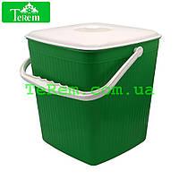 Ведро пластиковое для мусора 12 л Юнипласт