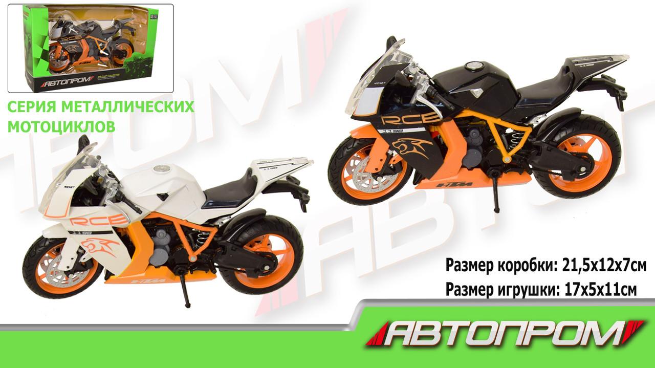 """Мотоцикл метал-пластик.инерц """"АВТОПРОМ"""" в кор. 21,5*12*7см/72-2/"""