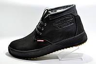 Зимние мужские ботинки Clarks, Кожа на меху