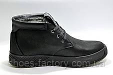 Зимние мужские ботинки Clarks, Кожа на меху, фото 3