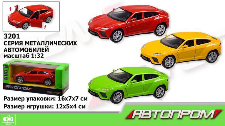 """Машина металл """"АВТОПРОМ"""",1:32, 3 цвета,откр.двери, в кор.16*7*7см /96-2/, фото 2"""