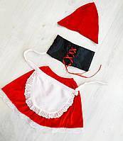 Детский новогодний карнавальный костюм для девочки Красная Шапочка на 2-5 лет