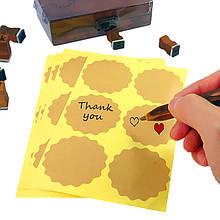 Наклейки для подарков, хенд-мейд, скрапбукинга без надписи (0013)