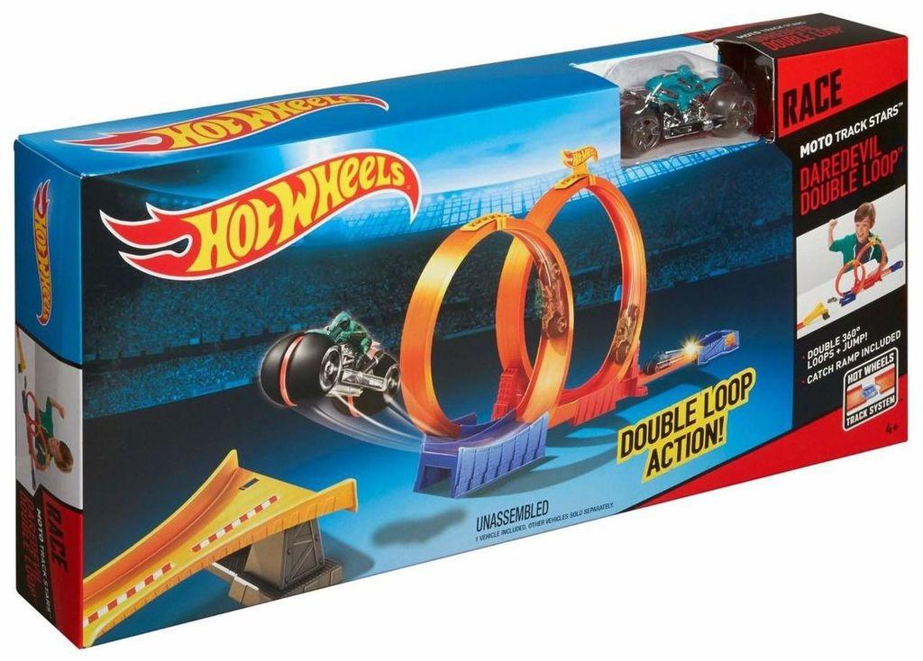 Трек Хот Вилс с машинками Hot Wheel Двойная мертвая петля