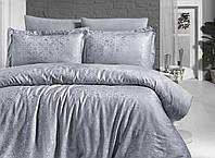 Комплект постельного белья First Сhoice Lamone Gri жаккардовый 220*200 см серый