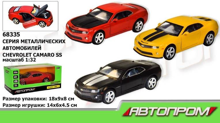 """Машина метал. """"АВТОПРОМ"""",1:32 Chevrolet  Camaro  SS, 3 цвета,  свет,звук,в кор. 18*9*8см /48-2/, фото 2"""