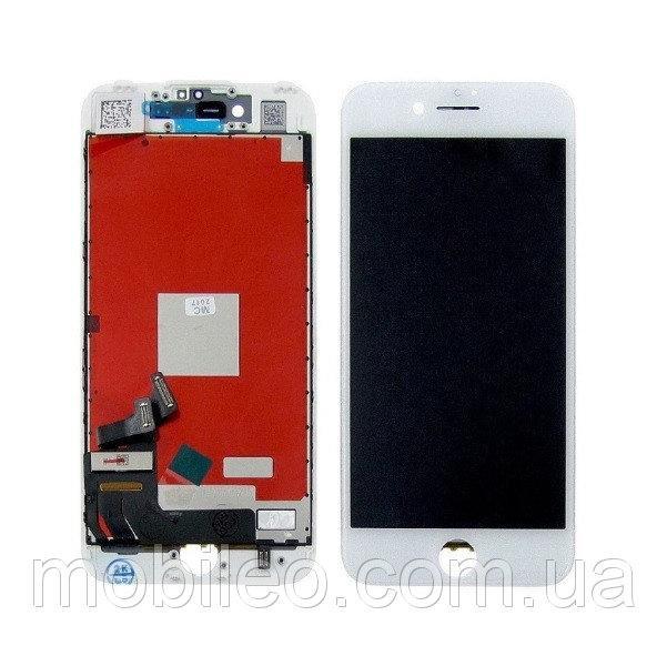 Дисплей для Apple iPhone 7 с тачскрином, белый оригинал (Factory Refurbished)