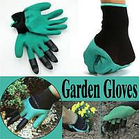 Садовые перчатки Garden Genie Gloves с когтями для сада, огорода Garden Gloves