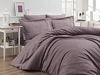 Комплект постельного белья First Сhoice Sare Leylak жаккардовый 220*200 см лиловый