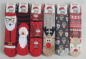 Махровые новогодние носки с оленями «Ekmen »
