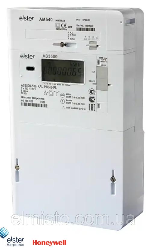 Электросчетчик модульный Aльфа СМАРТ AS3500 3х380В, 5(10)А, ІР54, А±R±, RS485