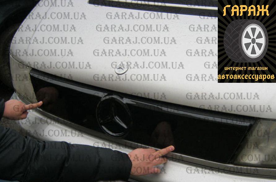 """Зимняя накладка Mercedes Vito W638 1996-2003 На решетку радиатора Глянец """"FLY"""""""