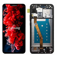 Дисплей (LCD) Huawei P Smart Plus   Nova 3   Nova 3i   INE-LX1 с тачскрином и рамкой, чёрный, оригинал (PRC)