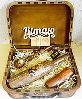 """Оригинальный подарок мужчине - набор """"Козак"""" в деревянном чемодане"""