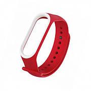 Браслет для часов Xiaomi MI Band 3/4 Red White