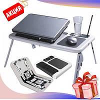 Портативный складной столик для ноутбука E-Table, подставка для ноутбука постельный стол отличное качество