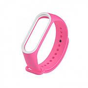 Браслет для часов Xiaomi MI Band 3/4 Pink White