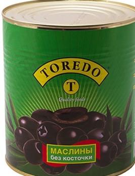 Маслины чёрные без косточки ИСПАНИЯ 280 грамм