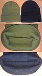 Шапки вязанные черные акрил с отворотом, на выбор цвета, из Польши, код: 117, розница и опт., фото 4