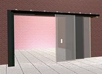 Откатные трех-створчатые противопожарные ворота Alutech Marc-P
