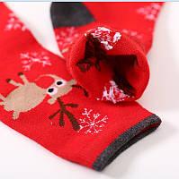 Шкарпетки жіночі зимові з новорічними оленями, фото 1