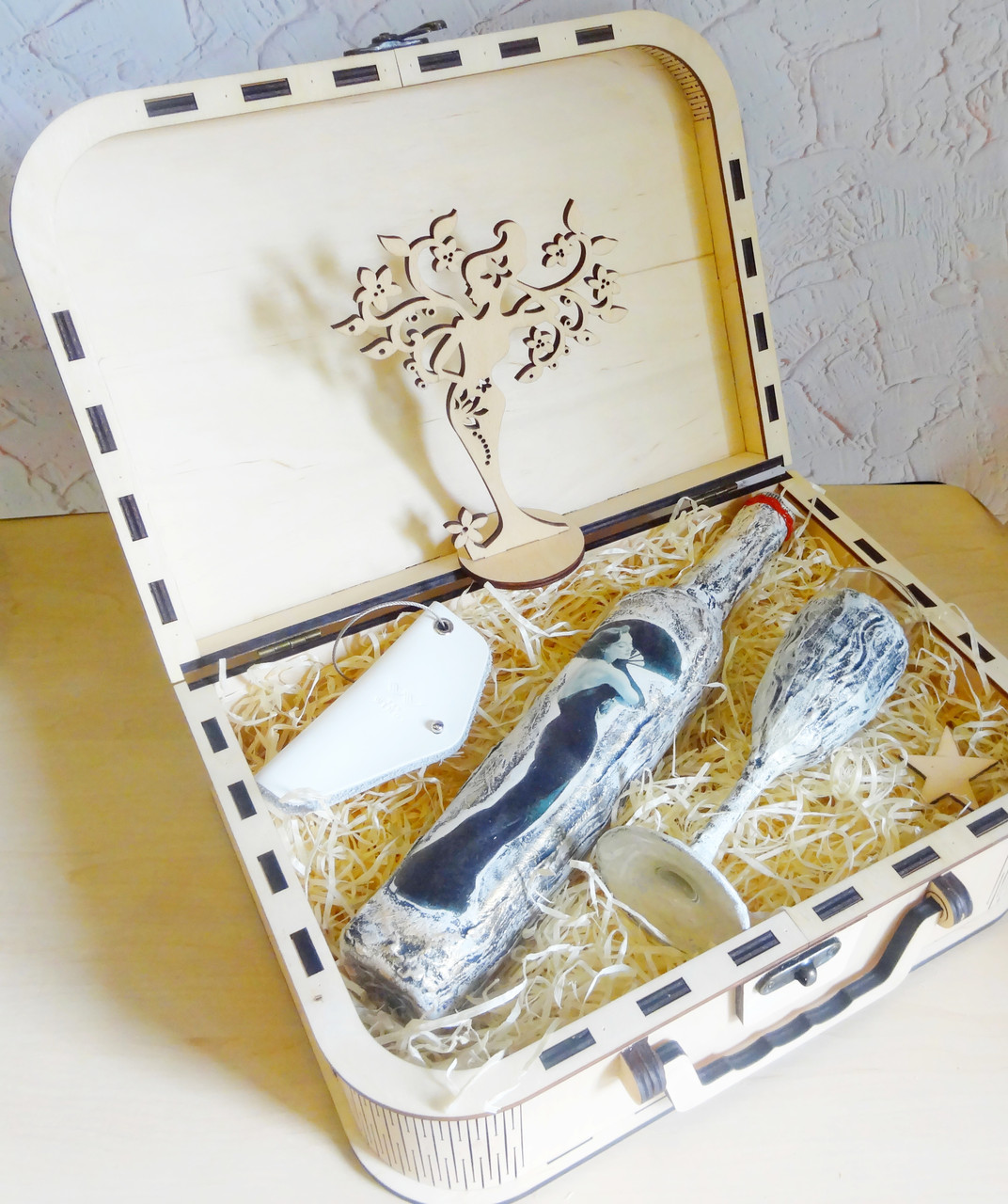 Оригинальный подарок для женщин на 14 февраля - набор Ретро   Ukrainian Gift Box