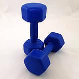 Гантели для фитнеса пластиковые цельные (неразборные) OSPORT Profi 2 кг (MS 2938), фото 4