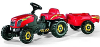 Трактор з причепом Trailer червоний Rolly Toys 12121, фото 1